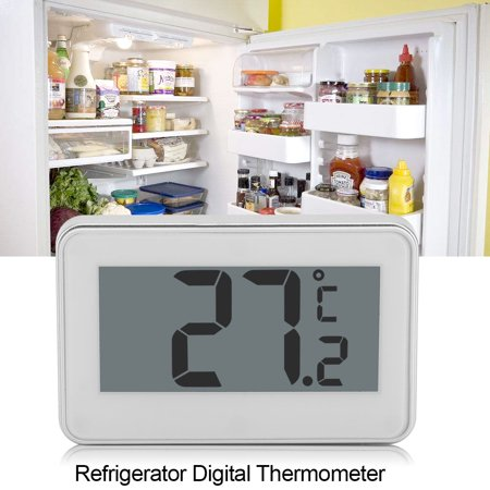 - EECOO Kitchen Large LCD Refrigerator Fridge Freezer Digital Thermometer with Adjustable Stand& Magnet Freezer Thermometer