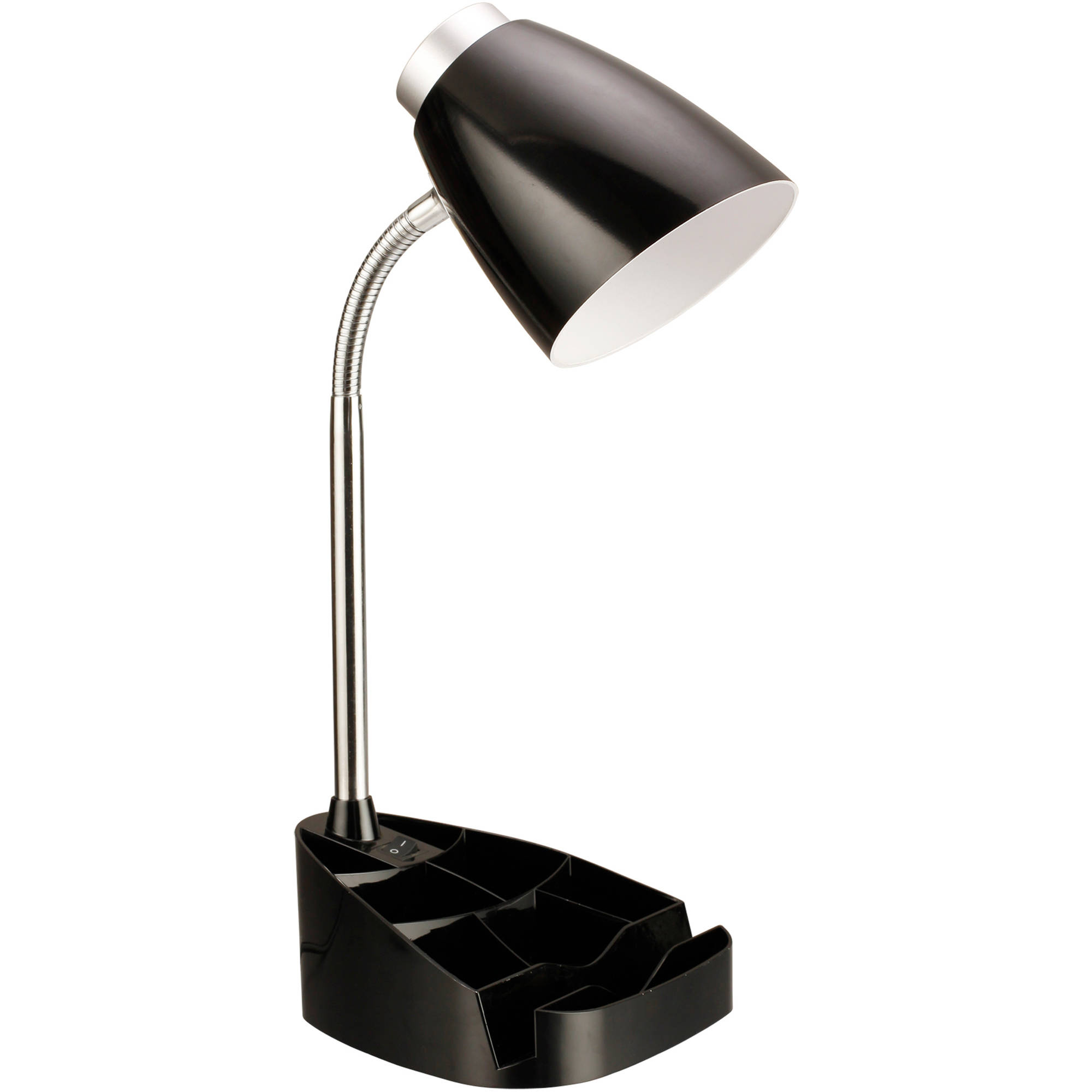 Limelights Gooseneck Organizer Desk Lamp With Book Holder