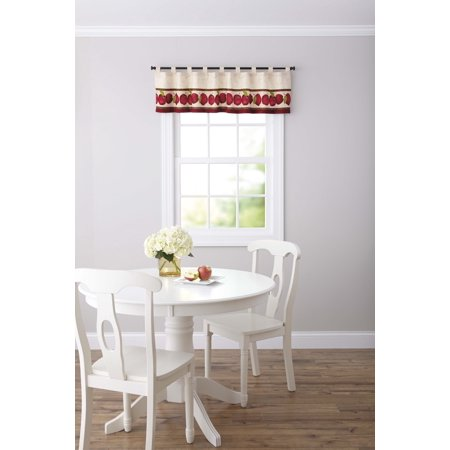 Better Homes & Gardens Apples Tab Top Kitchen Tier Curtain Pair or Valance