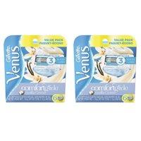 Gillette Venus Comfortglide Vanilla Crème Refill Blade Cartridges, 12 Count + Beard Shaping Tool