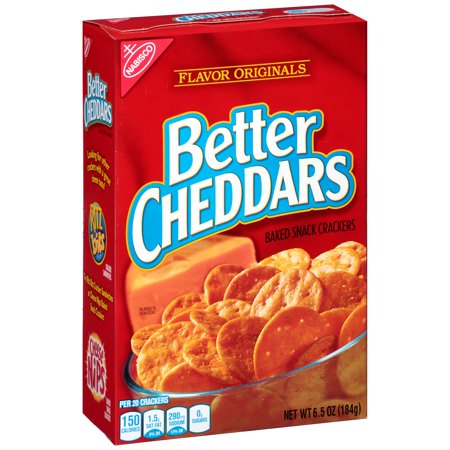 Merlot Cheddar - (2 Pack) Nabisco Flavor Originals Better Cheddars Baked Snack Crackers 6.5 oz. Box