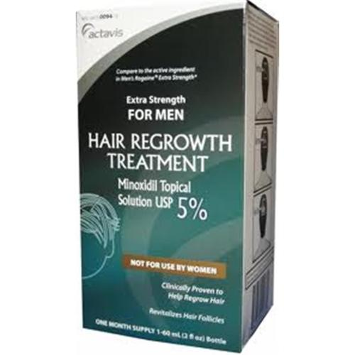 Minoxidil 5% Extra Strength Hair Regrowth Treatment Solution 60 ml [1 month supply] (Pack of 2)