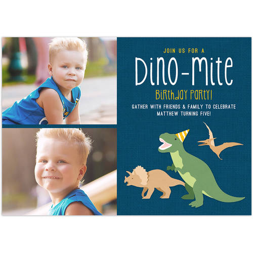 Dino-mite Party Birthday Young Boy Invitation