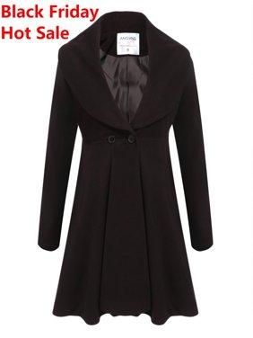 90df9a82d55f Black Womens Coats   Jackets - Walmart.com