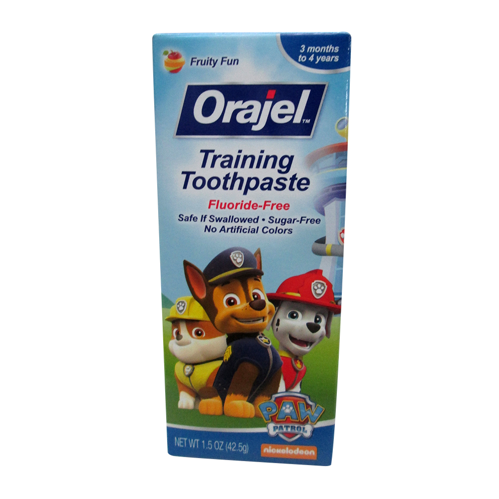 Orajel Toddler Training Toothpaste For Cleaner Teeth, Tooty Fruity - 1.5 Oz, 3 Pack