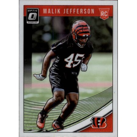 Football 123 - 2018 Donruss Optic #123 Malik Jefferson Cincinnati Bengals Rookie Football Card