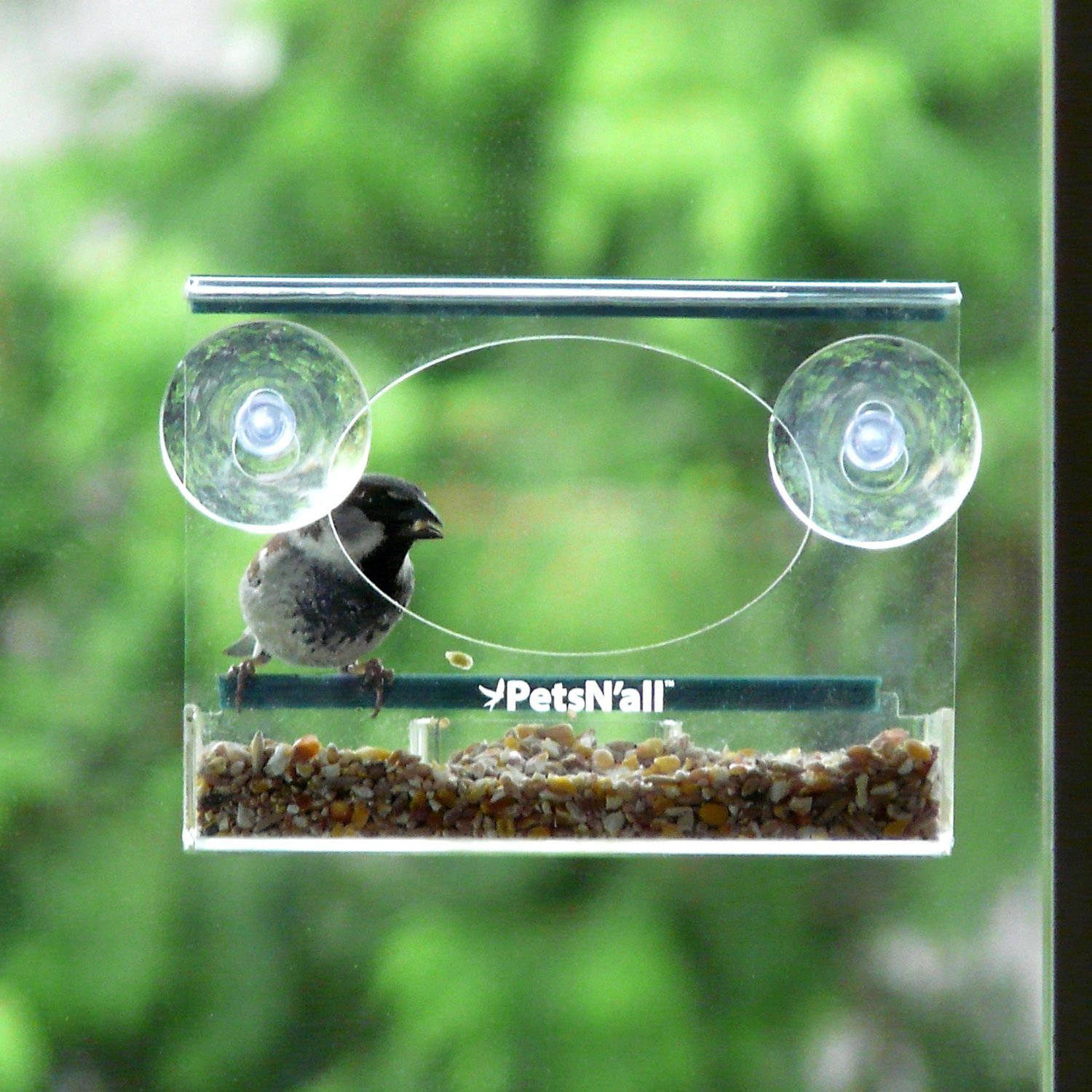 PetsN'all Chickadee, Finch, Small Bird Window Birdfeeder by Aspectek