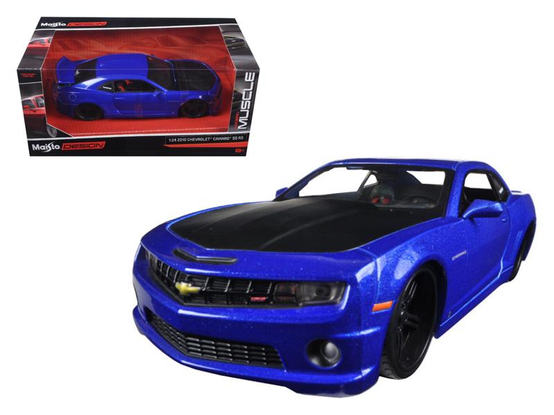Maisto 2010 Chevrolet Camaro SS RS Metallic Blue with Matt Black Hood Modern Muscle 1-24... by Diecast Dropshipper