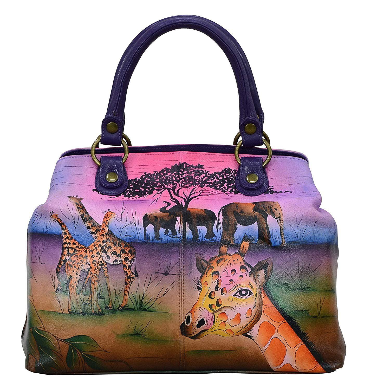 Art Sunset Beach Leather Handbags Purses Shoulder Tote Satchel Bags Womens