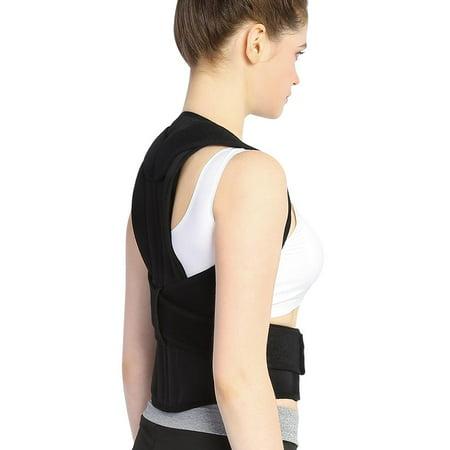 Yosoo Adjustable Back Posture Corrector Brace Back Shoulder Support Belt Posture Supports Correction - image 4 de 5