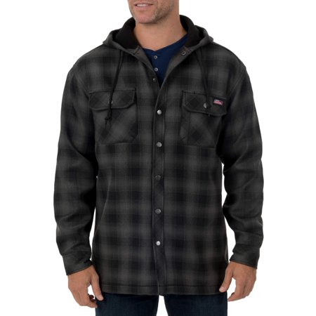 6125404b Genuine Dickies - Men's Twill Polar Fleece Lined Shirt Jacket - Walmart.com