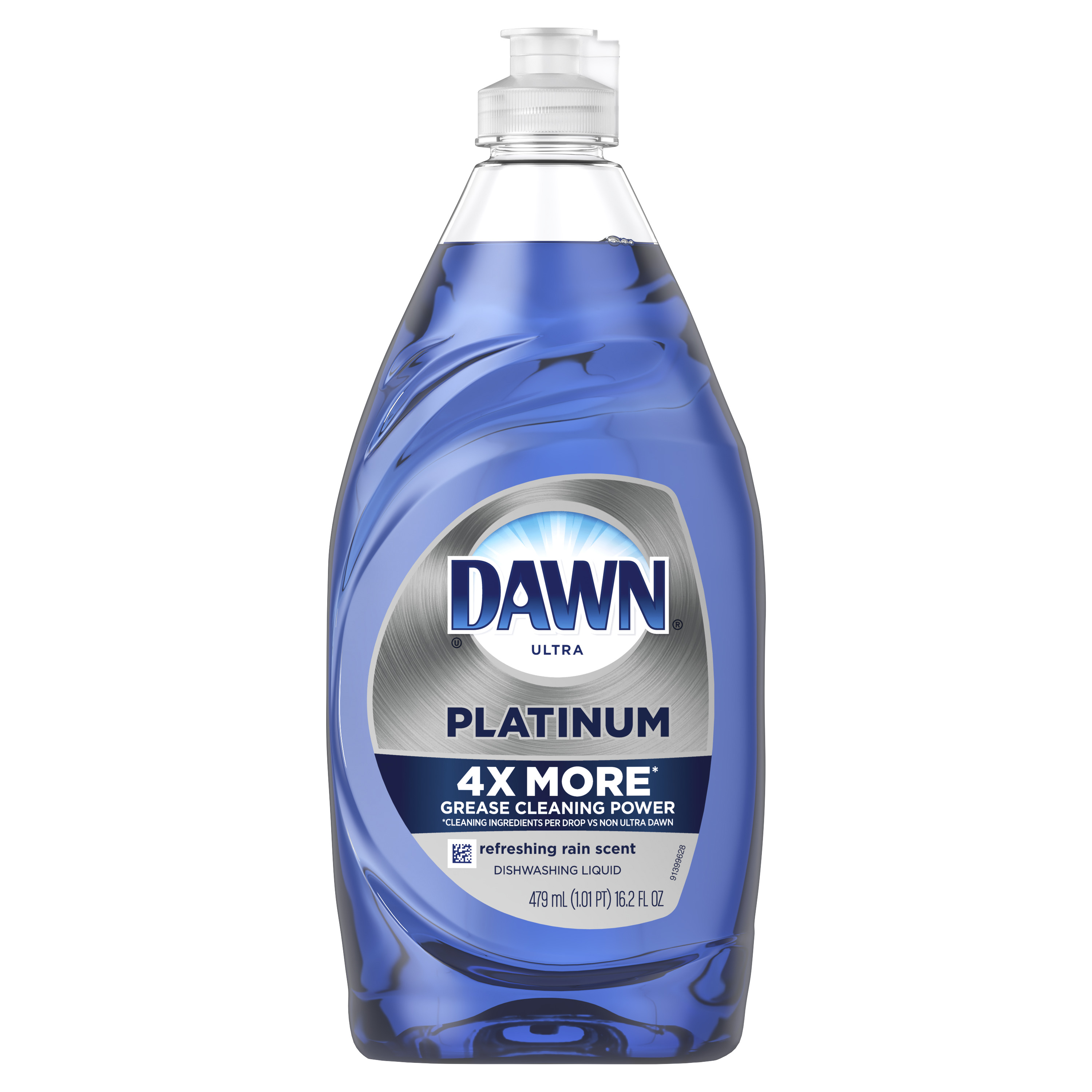 Dawn Platinum Dishwashing Liquid Dish Soap, Refreshing Rain, 16.2 fl oz