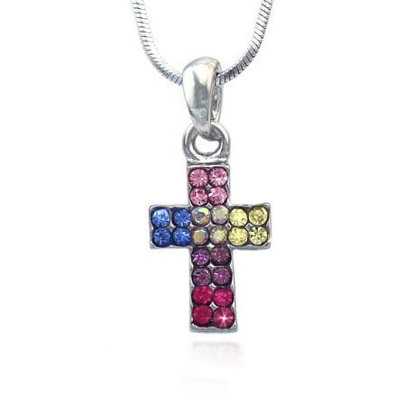 cocojewelry Small Cross Pendant Necklace Jewelry for Girls - Cross Necklace For Girl