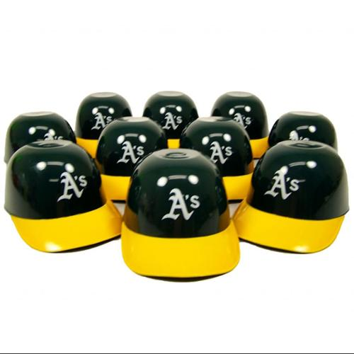 Oakland Athletics Official MLB 8oz Mini Baseball Helmet Ice Cream Snack Bowls (10) by Rawlings