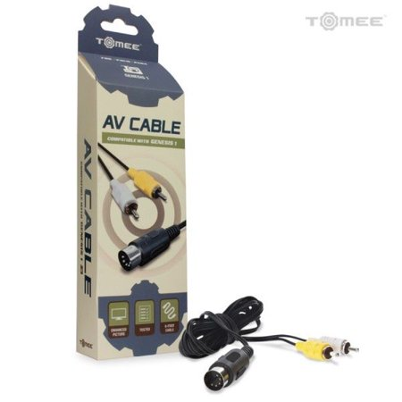 Sega Genesis 1 Standard AV Cable 6ft - Tomee ()