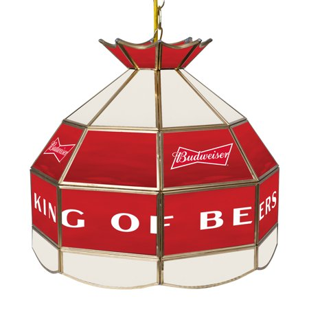 Budweiser 16 Inch Handmade Stained Glass Lamp - Bow