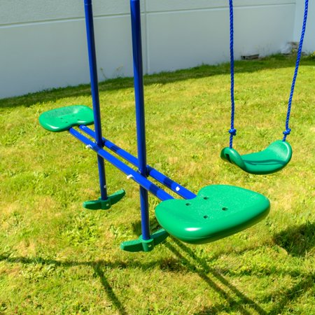 ALEKO BSW05 Outdoor Sturdy Child Swing Set with 2 Swings ...