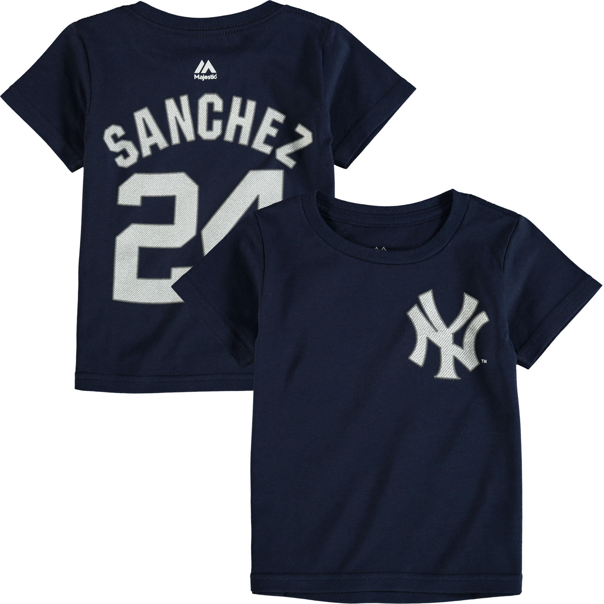 Gary Sanchez New York Yankees Majestic Toddler Player Name and Number T-Shirt - Navy