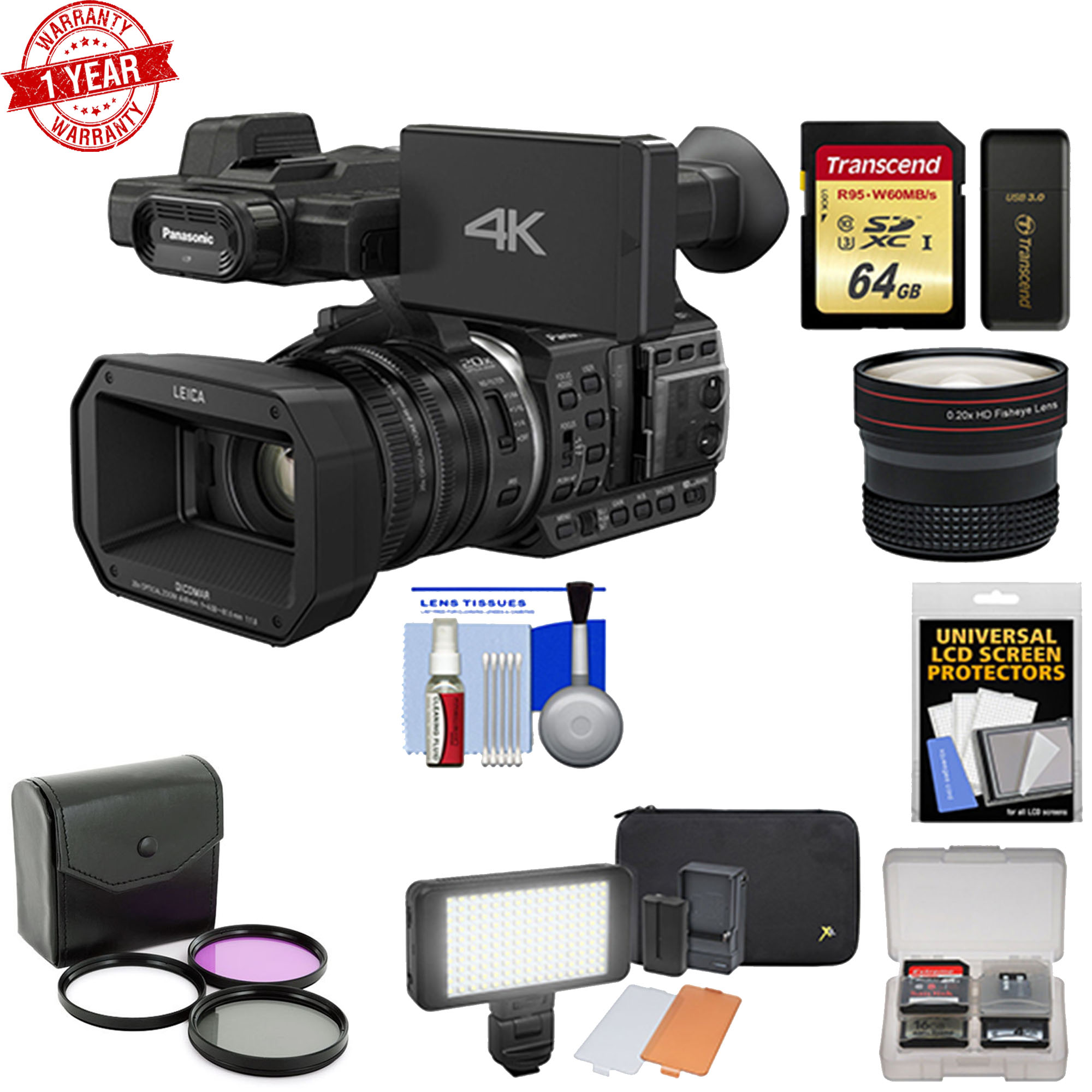 Panasonic HC-X1000 4K Ultra HD Wi-Fi Video Camera Camcorder w/ Fisheye Lens Kit - image 1 of 1