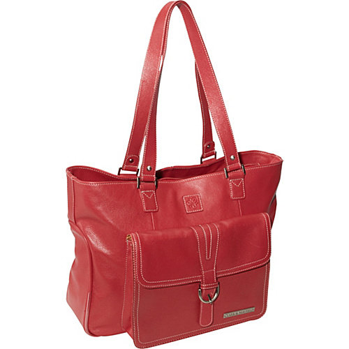 """Clark & Mayfield Stafford Pro Leather Laptop Tote 15.6"""""""