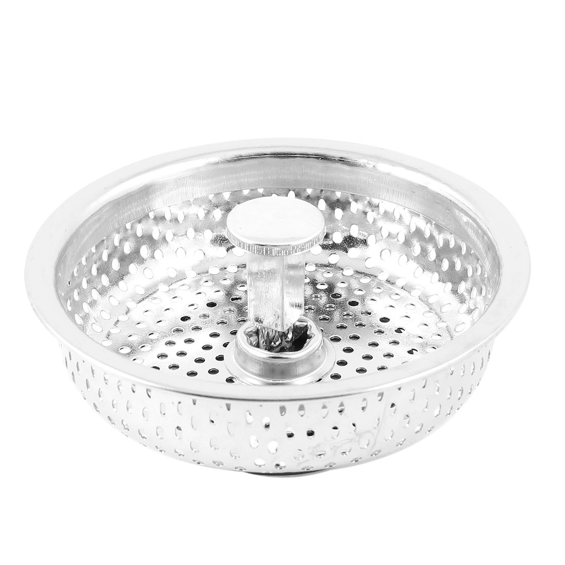 Unique Bargains Kitchen Basin Stainless Steel Drain Sink Strainer Basket Stopper Plug