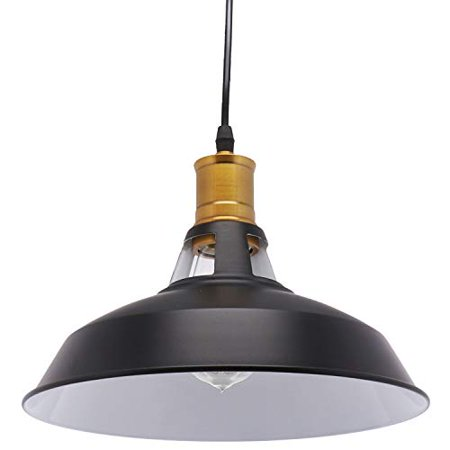 Barnyard Designs Barn Pendant Light Modern Farmhouse Hanging Fixture Black 8 Cord Matte Finish Lamp Shade Br Socket