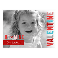 Personalized Valentines Day Greeting Card - Be Mine