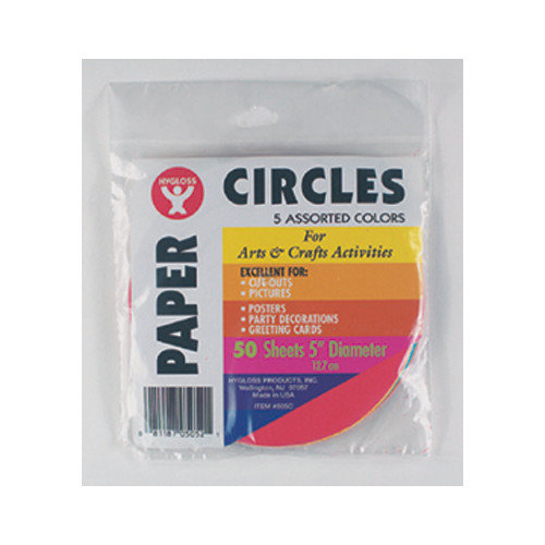 Hygloss Products Inc Paper Circles 5 (Set of 2)