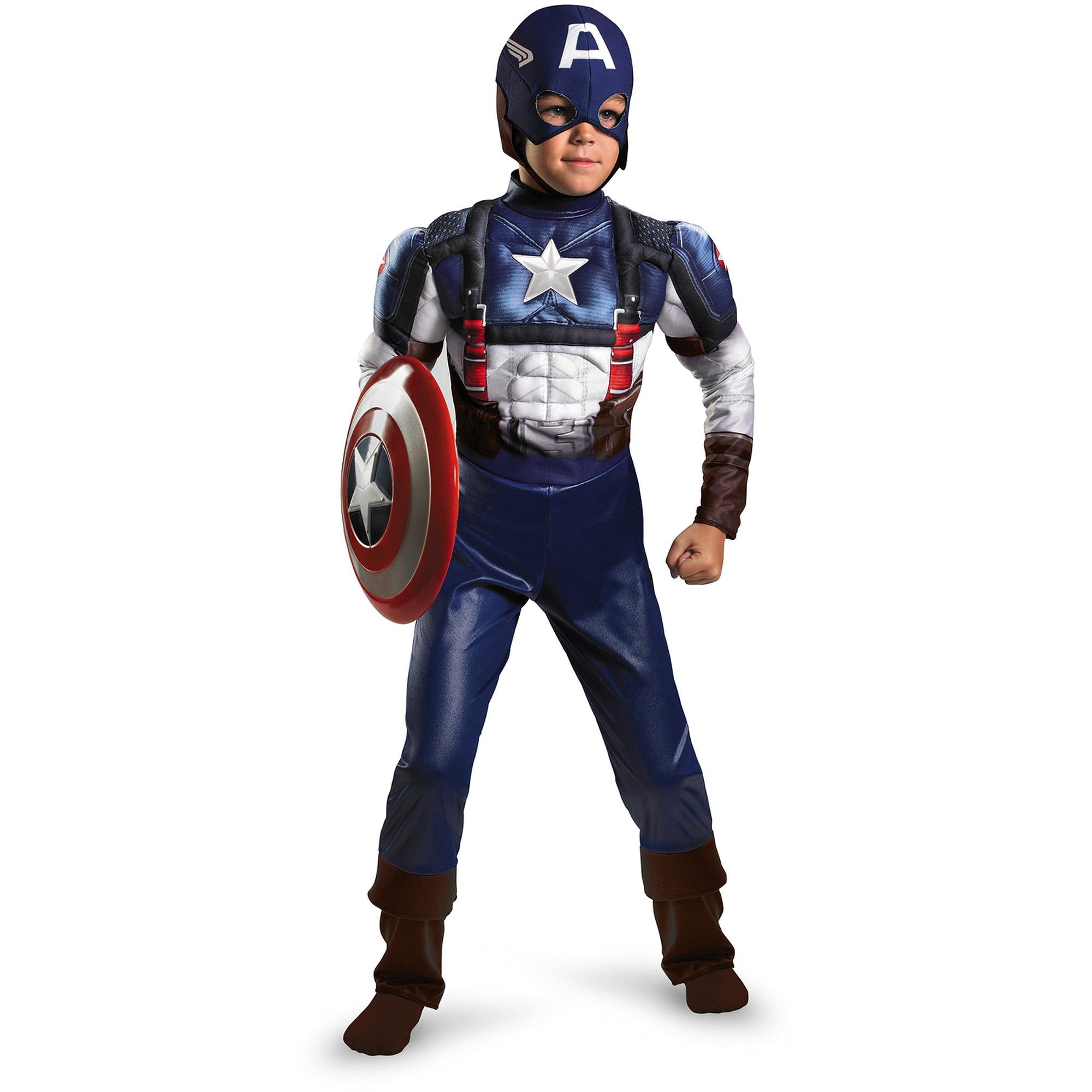 Captain America Muscle Child Halloween Costume Walmart Com