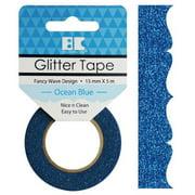 Best Creation Designer Glitter Tape 15mmX5m-Ocean Blue Fancy Wave