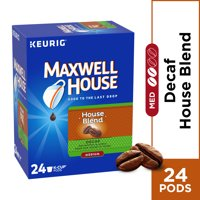 Maxwell House House Blend Decaf Coffee K Cup Pods, Decaffeinated, 24 ct Box