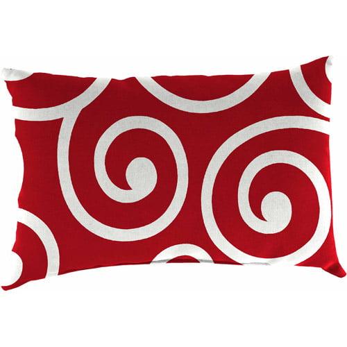 Jordan Manufacturing Indoor/Outdoor Patio Retangle  Toss Pillow