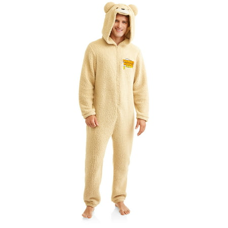 ted bear men s onesie union suit walmart com