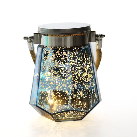 LED Battery Operated Mason Jar Lantern Light Outdoor Glass Fairy Hanging Jars (with Hanger) Waterproof Starry Decorative Decor String Lights for Wedding Home Garden Table Party Decoration