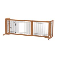 "Richell Freestanding Dog Gate, Autumn Matte, 59.80""L x 18.50""W x 20.90""H"
