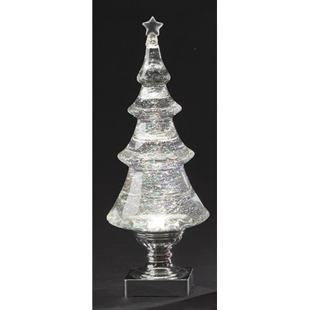 14 Quot Battery Operated Led Lighted Clear 4 Tier Tree
