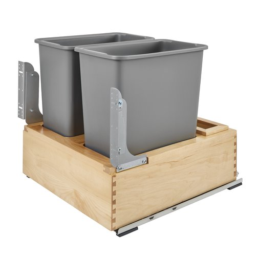 Rev-A-Shelf Double 7.5 Gallon Pull Out/Under Counter Trash Can