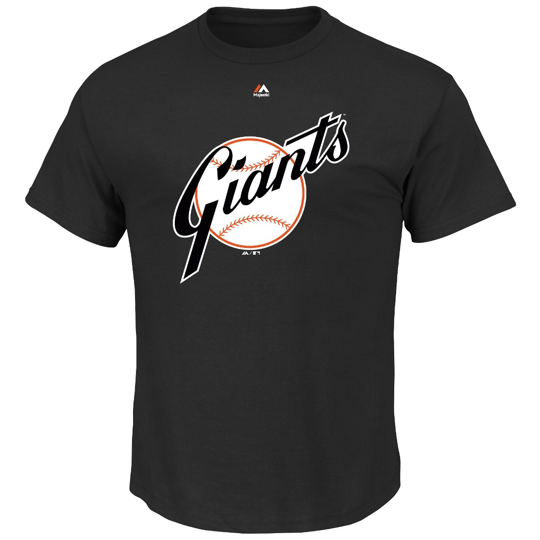 "San Francisco Giants Majestic MLB ""Official Logo"" Cooperstown Men's S/S T-Shirt"