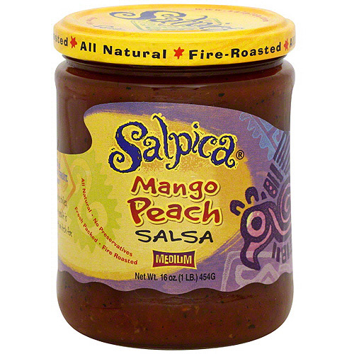 Salpica Mango Peach Salsa, 16 oz (Pack of 6)
