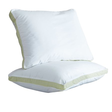 Ultrasoft Quilted Sidewall Bed Pillows, Medium, Set of (French Quilted Pillow)