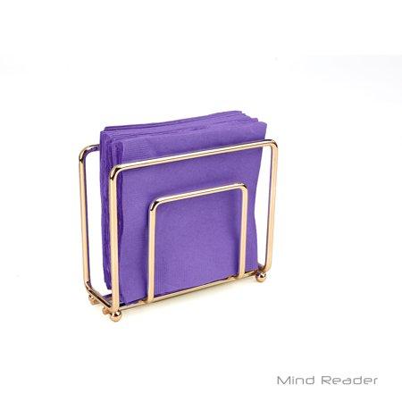 Mind Reader Stainless Steel Decorative Napkin Holder, Gold