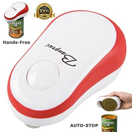 - Electric Can Opener, Restaurant Can Opener, BangRui Automatic One Touch Hands Free Smooth Edge Can Opener for Arthritis, Red