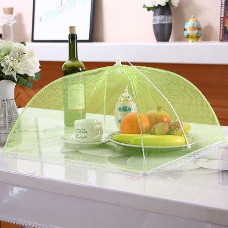 4 Pcs Screen Umbrella Outdoor BBQ Picnic Camp Food Cover Kitchen Helper Protector ()