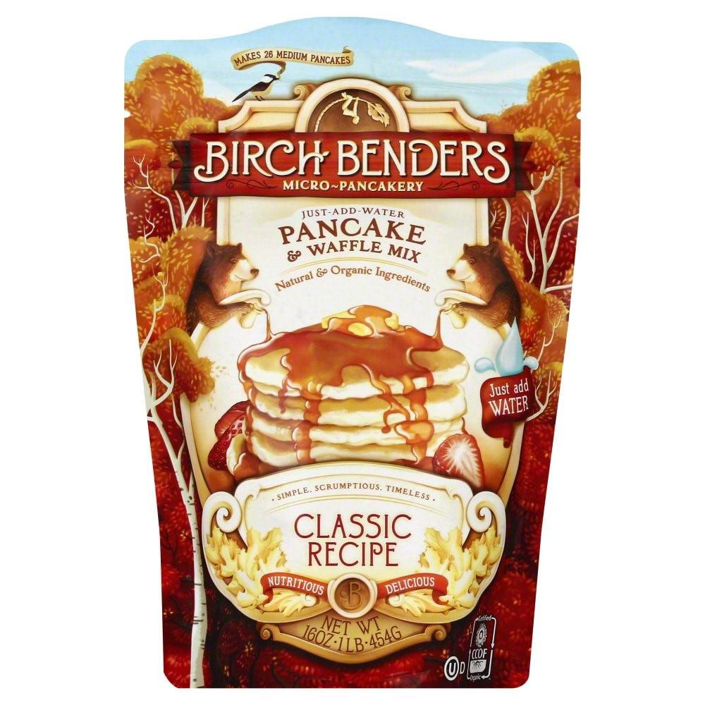 Birch Benders Micro-Pancakery Pancake & Waffle Mix Classic Recipe 16 oz by Birch Benders