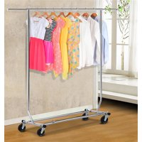 Clothing Garment Rack Commercial Premium Stainless Steel Heavy Duty, Max. Load Capacity: 200 lb