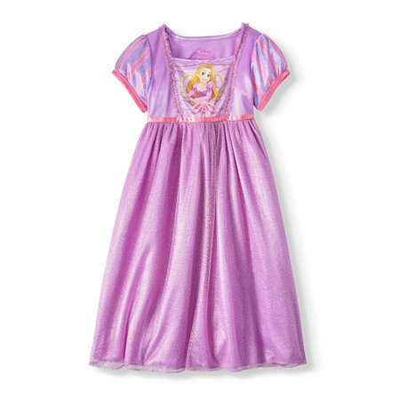 Tangled Toddler Girls' Rapunzel Short Sleeve Fantasy Nightgown (A Girls Fantasy)