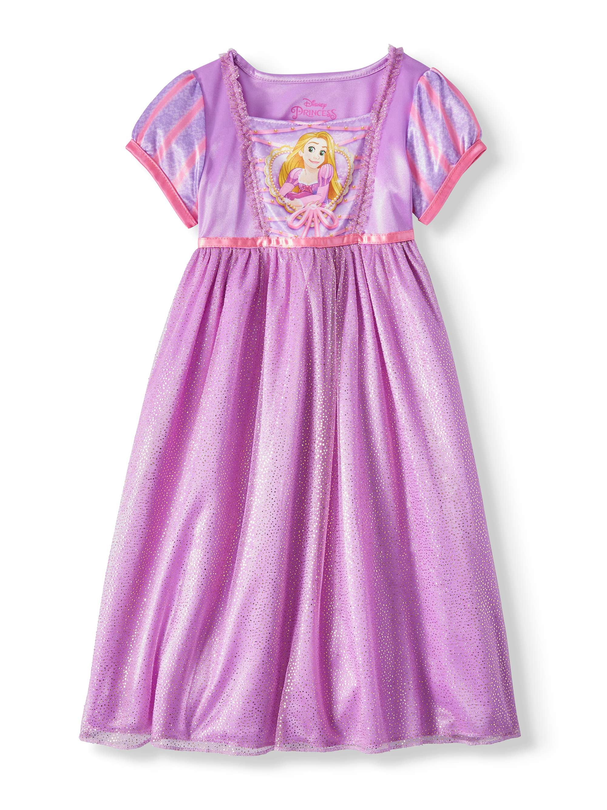Tangled Toddler Girls' Rapunzel Short Sleeve Fantasy Nightgown