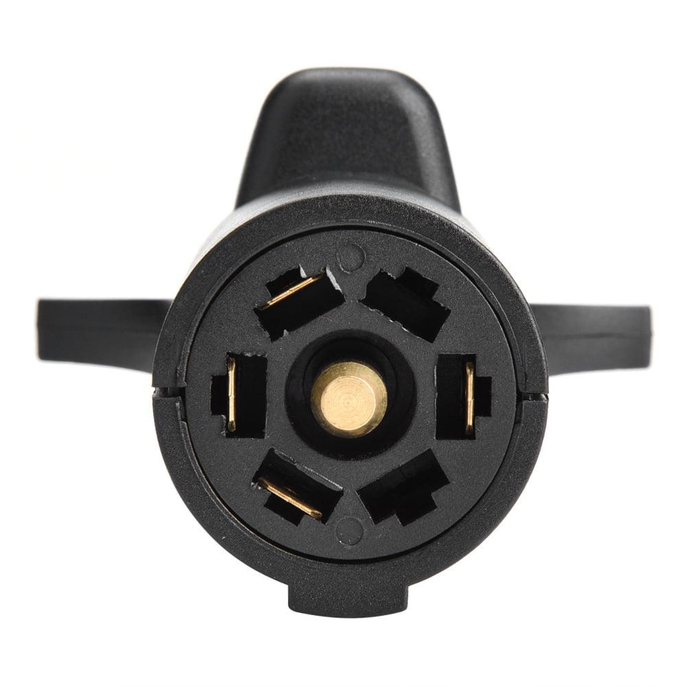 Mgaxyff Trailer Plug Connector 12v 7 Way Pin Rv Blade To 5 Way Flat Trailer Wiring Adapter Trailer Light Plug Connector Truck Cable Connector Walmart Com Walmart Com