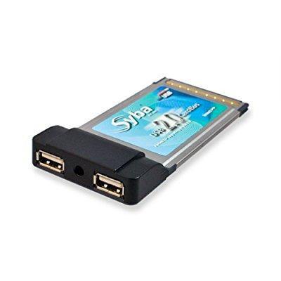 syba sd-pcmu2-via via chipset usb 2.0 2x ports pcmcia car...