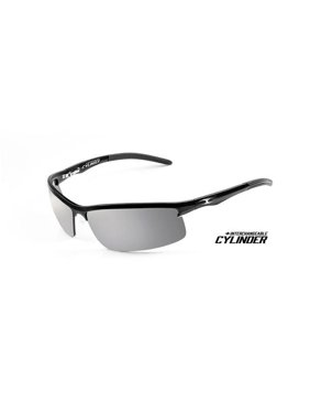 d87ae34efe Product Image ICICLES Cylinder Silver Mirror Lens Sunglasses with Matte  Black Frame